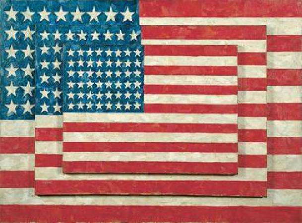Jasper Johns, Three Flags, 1958。圖/取自Wikipedia。