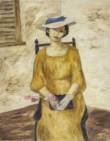 劉啟祥 黃衣 1938 油彩畫布 117×91cm