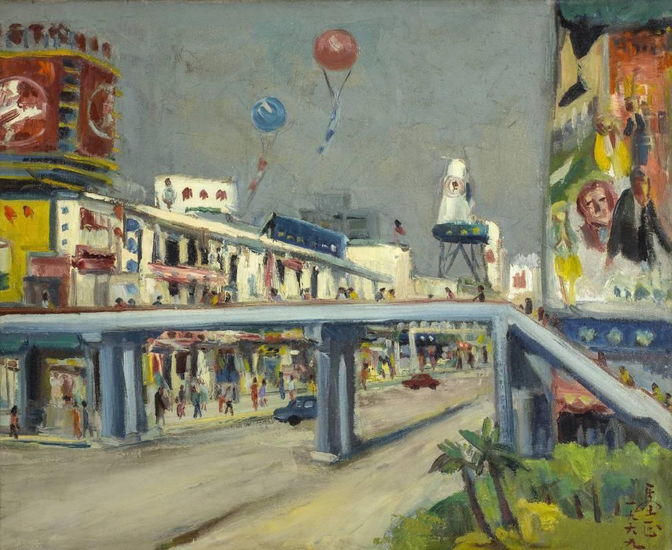 呂基正 中華商場 1969 油彩畫布 72.5×53cm
