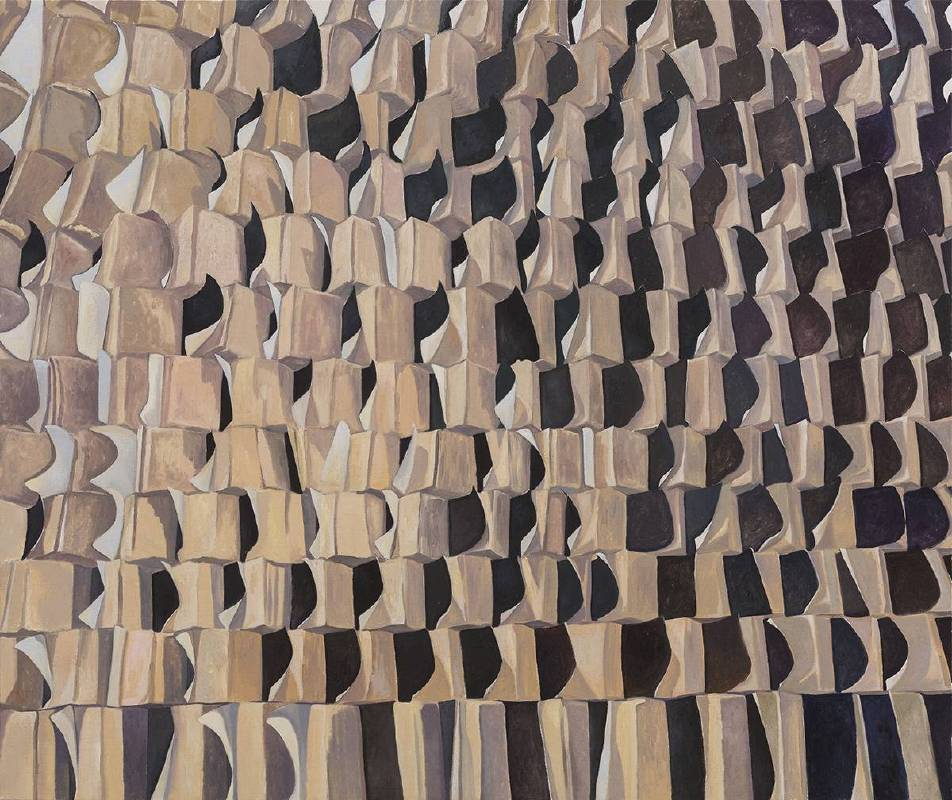 贺勋HeXun_月全食--错觉Lunar Eclipse-Illusion_2017_布面油画Oil on canvas_150x180cm(图片由艺术家与亚洲当代艺术空间提供Courtesy of artist and A+ Contemporary)
