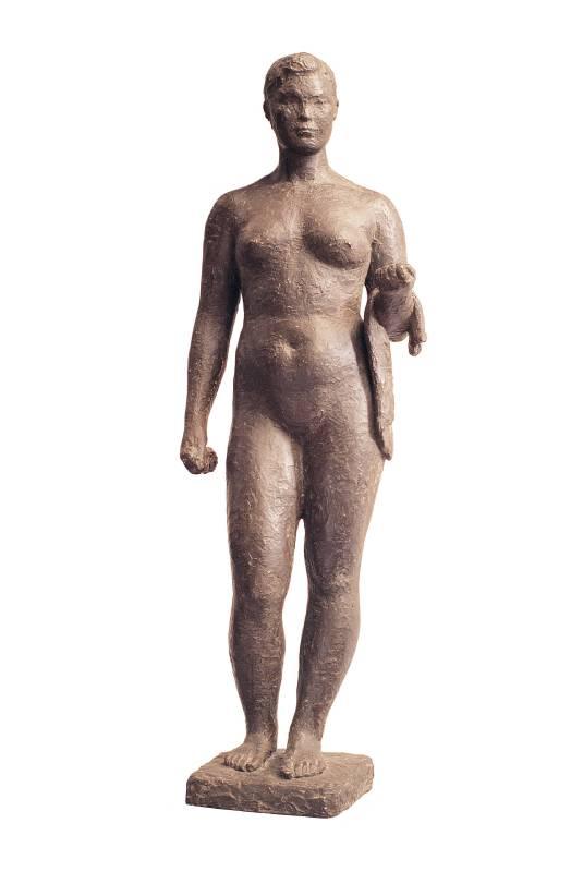 陳夏雨 浴女 1960 青銅 54.5×18.2×12.7cm