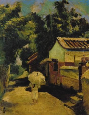 陳慧坤 故鄉龍井 1928 油彩畫布 58.5×43.4cm