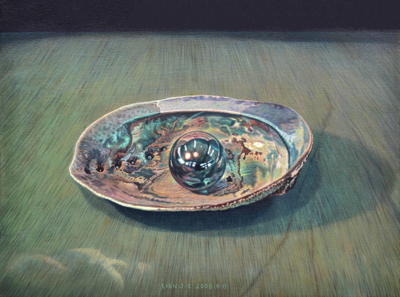 連建興|凝視|2006|油彩|53x72.5cm