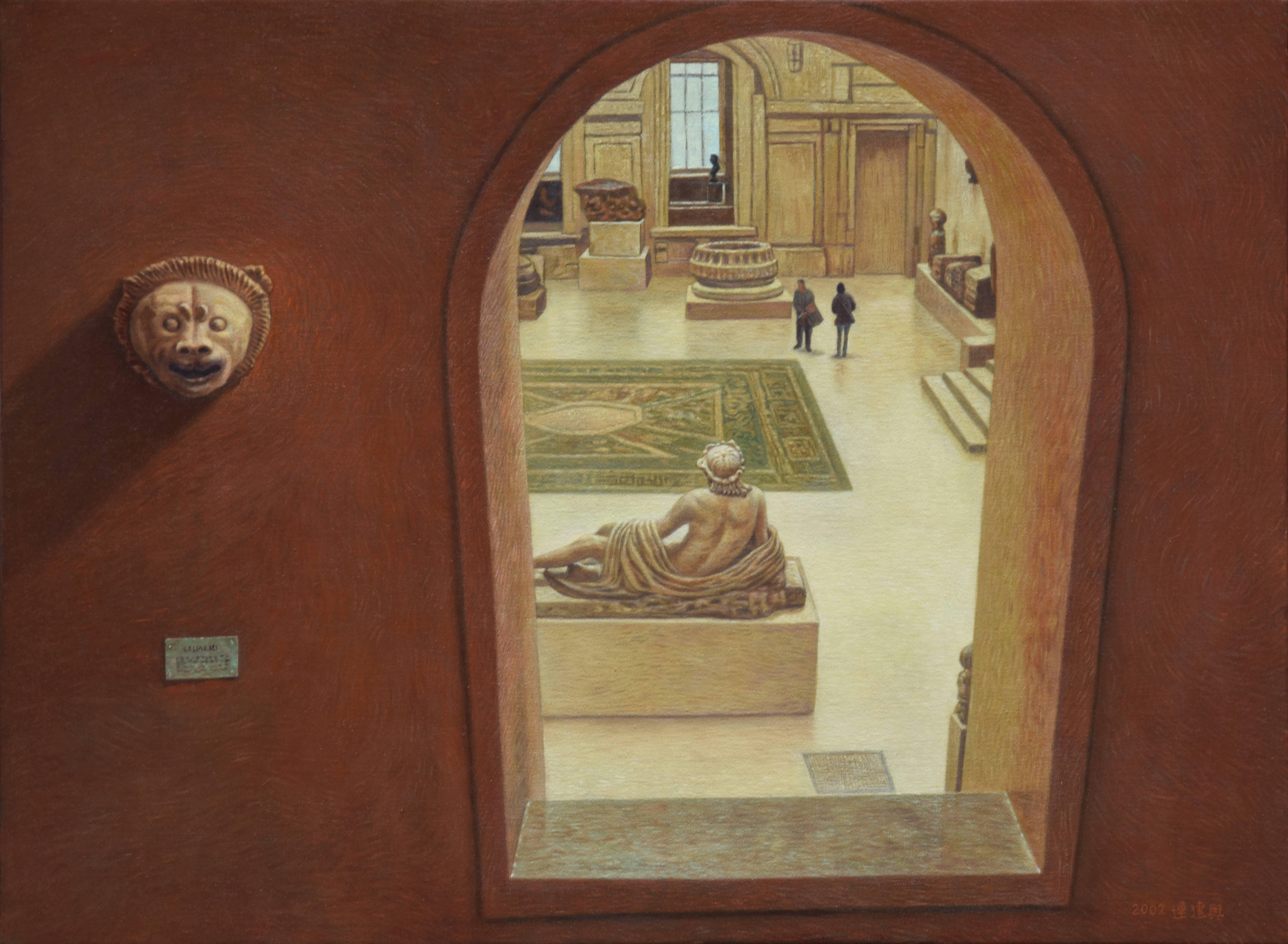 連建興|羅浮宮情調III|2002|油彩|53x72.5cm