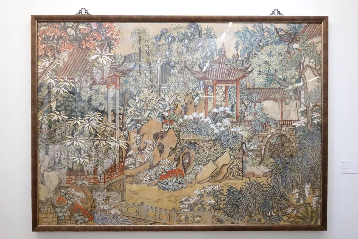 郭雪湖,《薰苑(色稿)》,1932