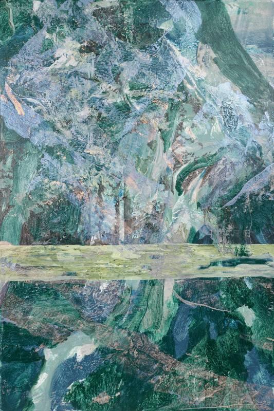 許聖泓《森林與湖上的光》局部