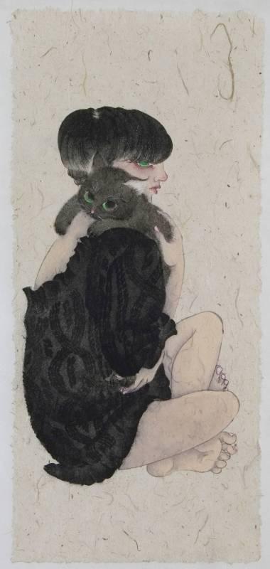 黃向藝《暖》,2017,紙本設色,60 × 38 cm