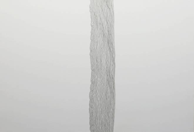 王昱翔, 慣線2, 2016年, 78x55cm, 黑色原子筆.紙