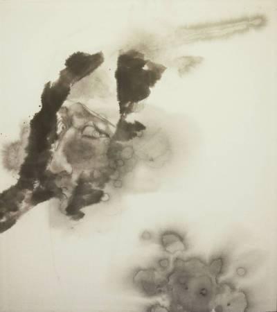 黃郁筑, 姿態-5, 2015年, 50x45cm, 彩墨.紙本