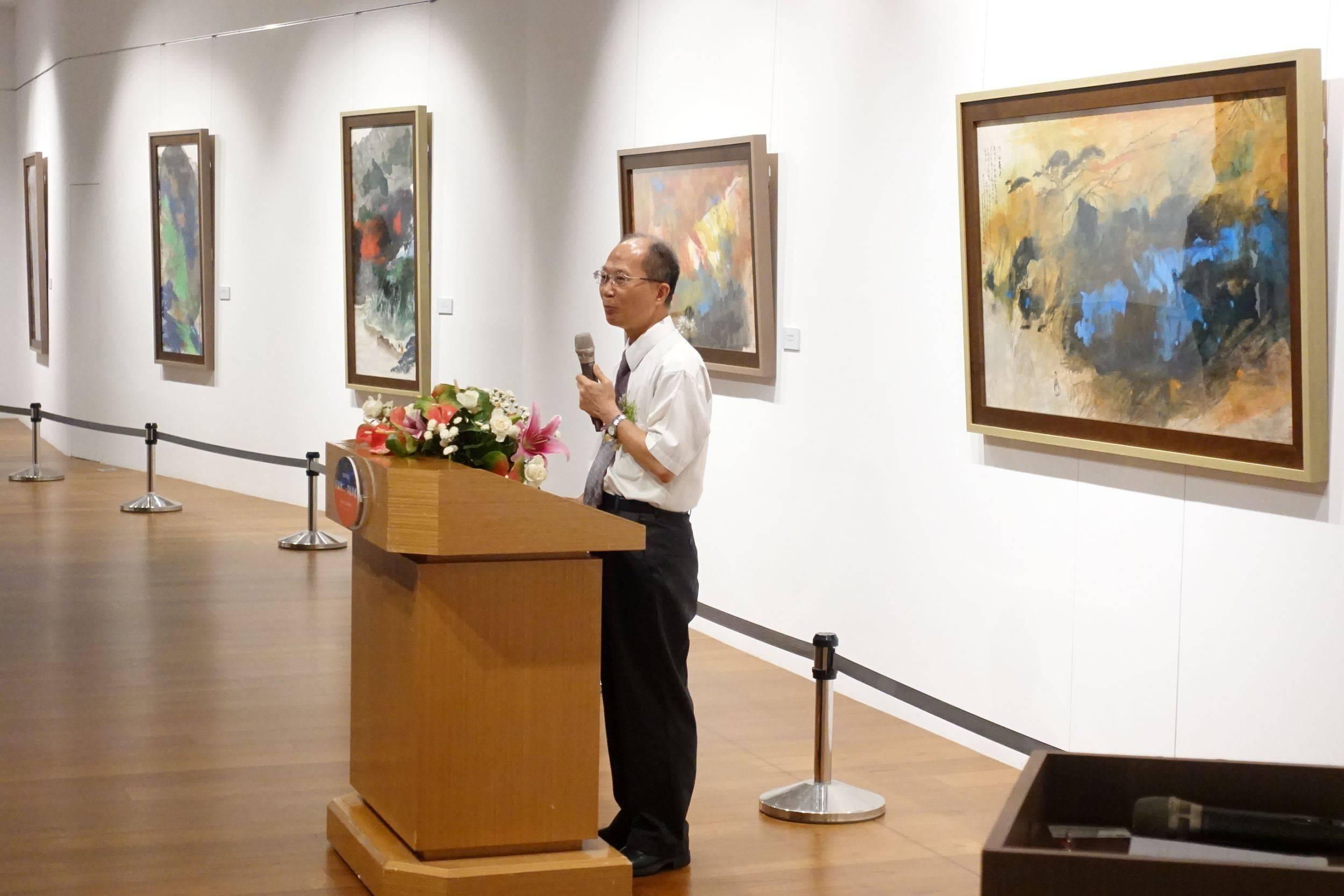 國父紀念館館長林國章先生致詞。