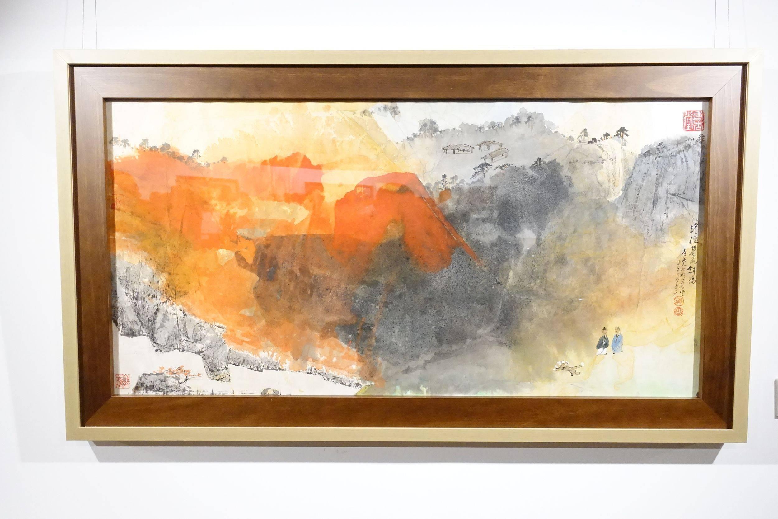 淡煙暮色斜陽,2002年。