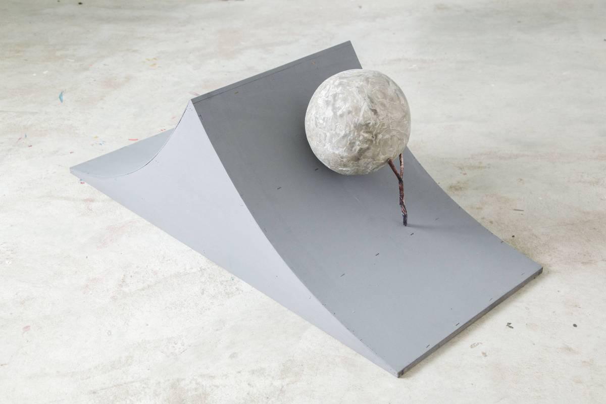 Sisyphus/120x50x55 cm, Archival Ink Print, Concrete, 2017