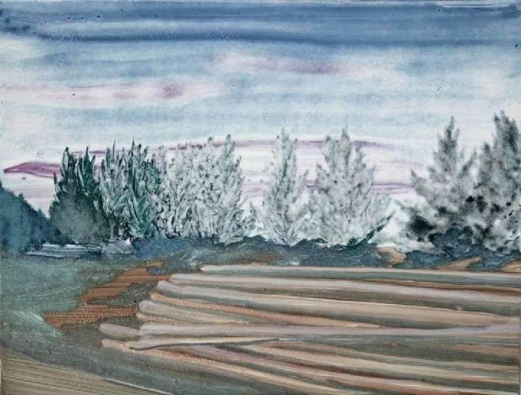 06. 張銀亮,《停車場》,2016,單幅版畫/紙,25 x 32.5 cm