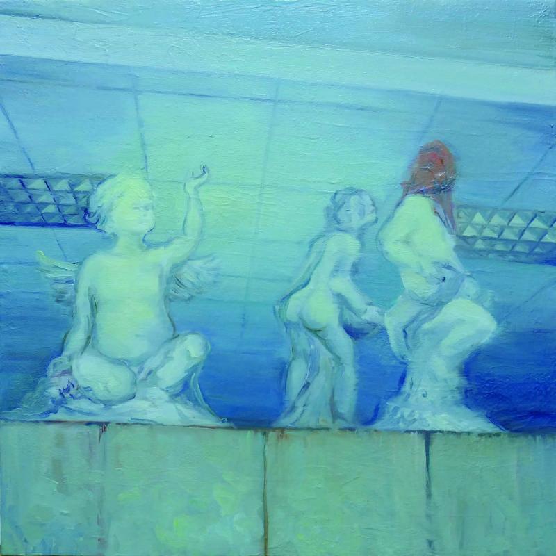 02. 鄒享想,《No.48-2》,2016,油彩/畫布,50 x 50 cm