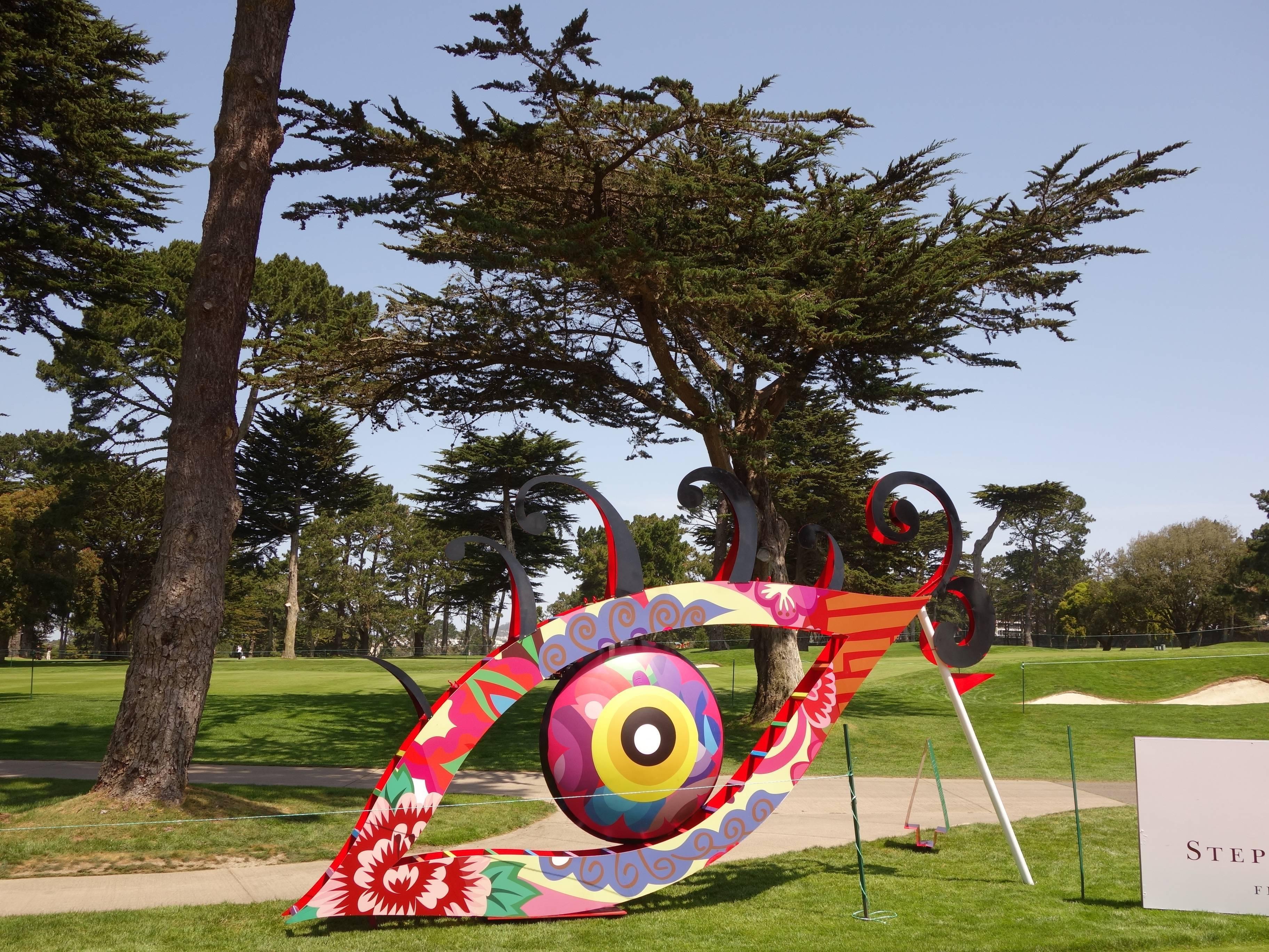 舊金山默賽德湖球場,18洞公共藝術 - 媚力之眼