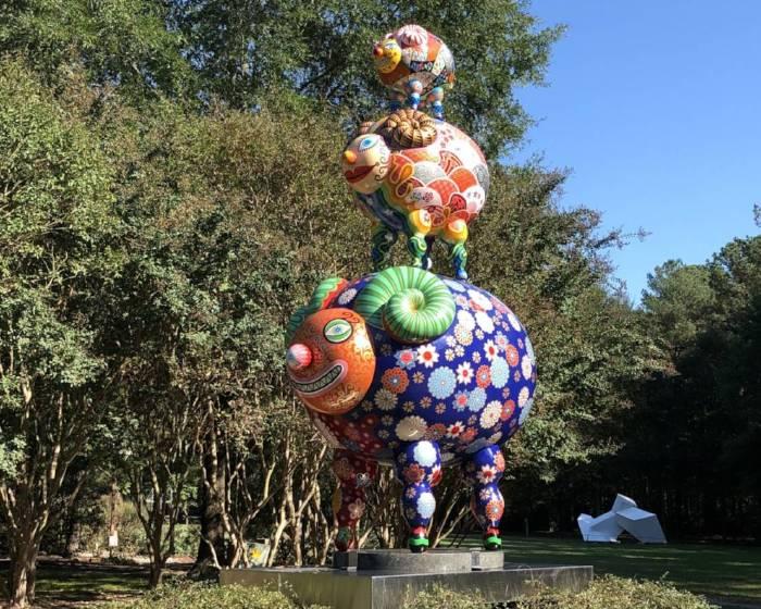 印象畫廊【洪易彩繪雕塑】三羊開泰爭豔馬里蘭州