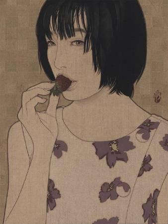 作者:池永康晟 標題: Sweet fruit.Haruka  尺寸:40*30 材質:岩彩/畫布 年代:2018