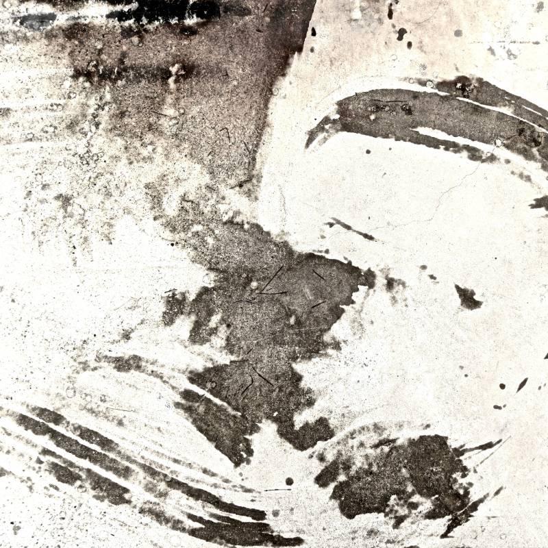 雨水非水墨–1, 100x100cm, 微噴於畫布、壓克力, 2016