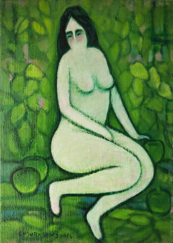 潘朝森 青蘋果與裸女