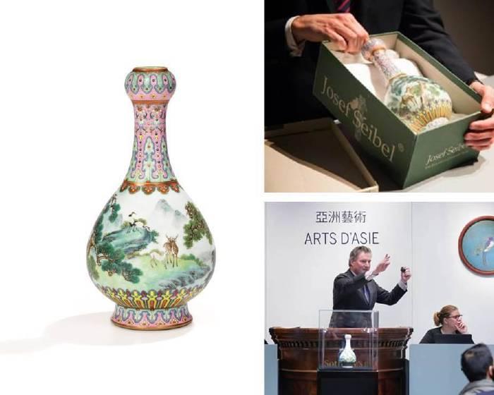 束之高閣「鞋盒如意瓶」拍5.7億 刷新蘇富比史上中國瓷器於法國拍賣紀錄