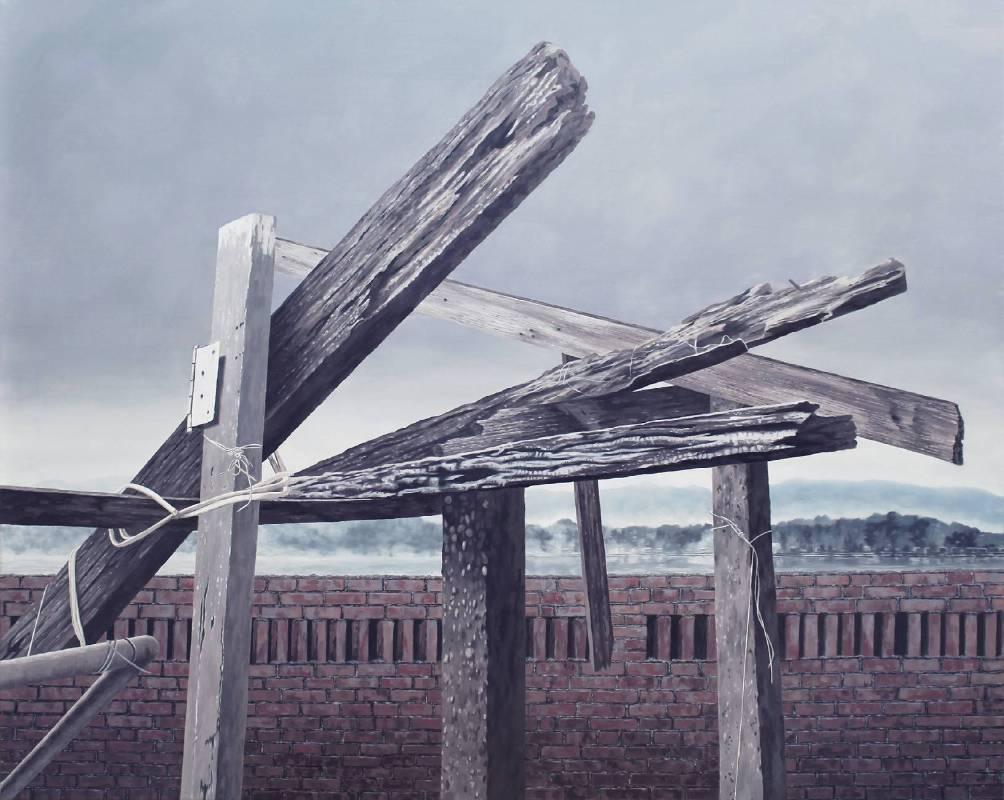 潘嘉泠-一如往常-家的模樣-油畫-72.5x91cm-2018