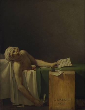 《馬拉之死》,Marat Assassiné。