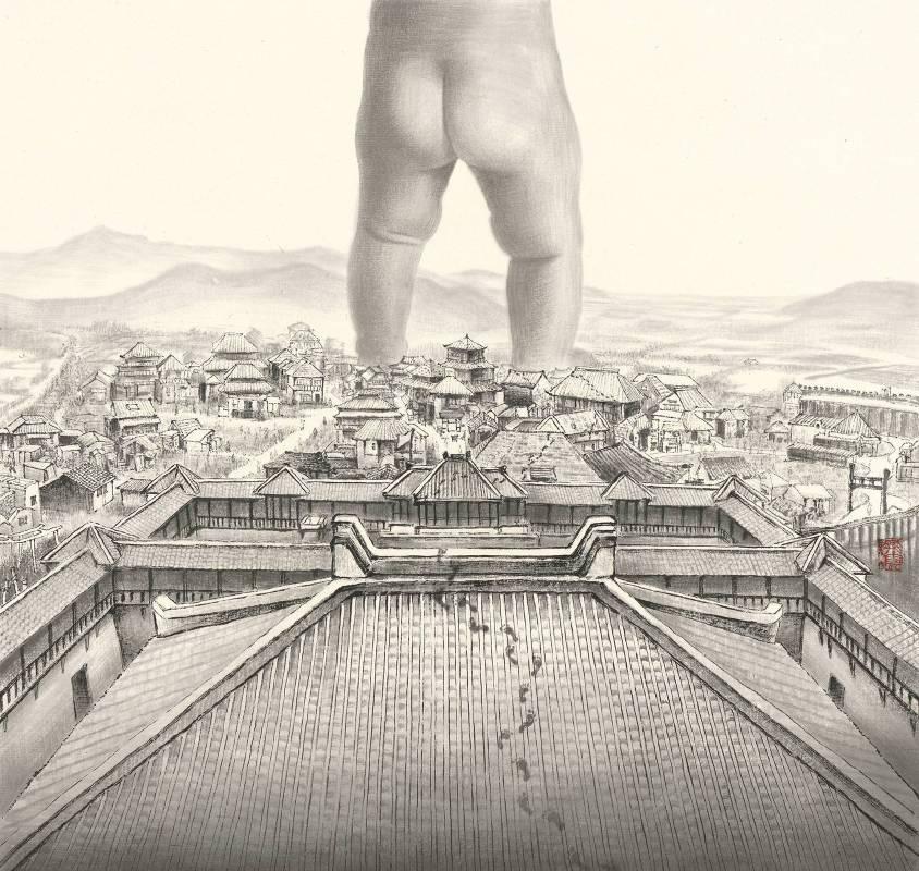 徐嘉霠Hsu, Jia Yin - 遊歷 ( 2018  水墨 宣紙  50x50cm ) ( 心動藝術空間 Art Influence )
