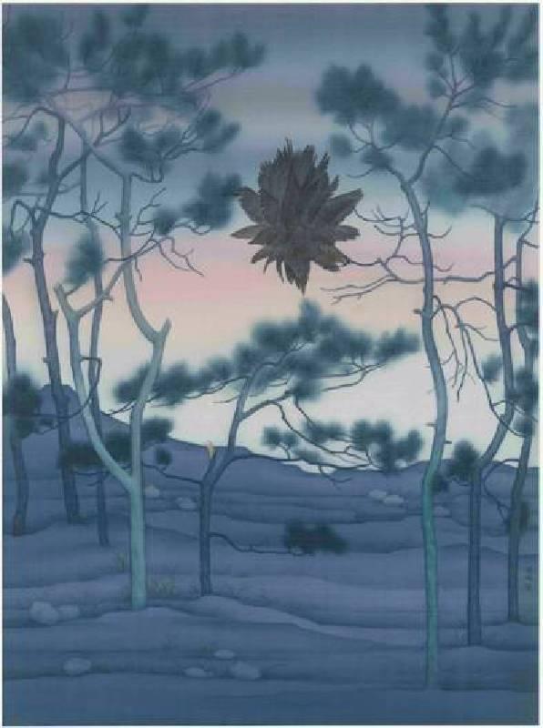 楊鴻|外物1|絹本/設色|80 x 59 cm|2017
