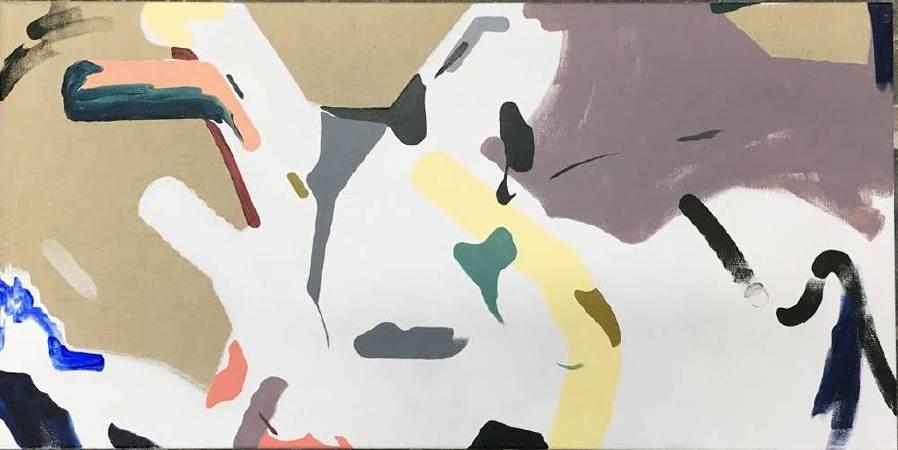 龔寶稜 Kung Pao Leng_不落 Perpetual Daylight_壓克力彩、亞麻畫布 Acrylic on Linen_45x90cm_2018