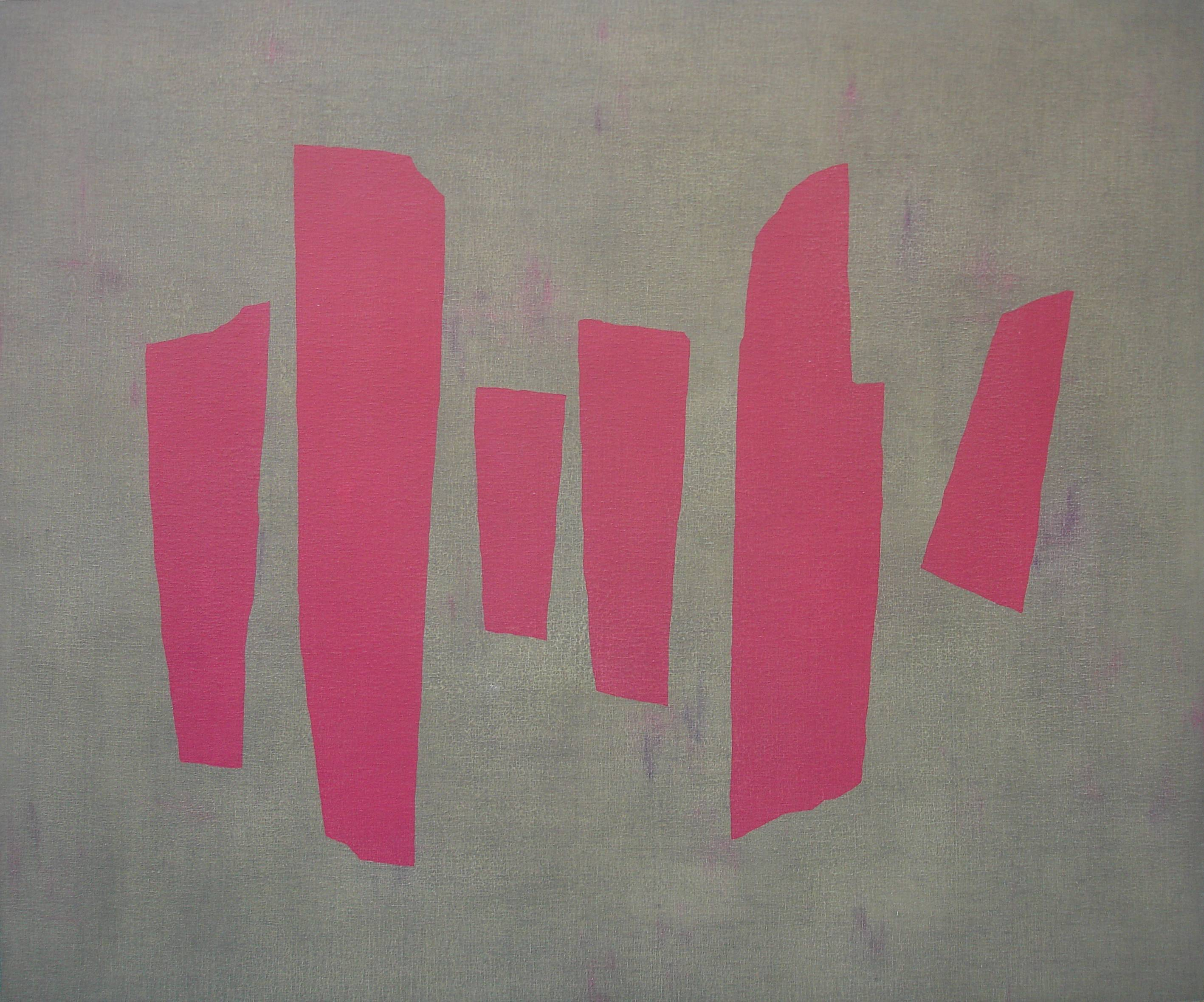 吳東龍 Blocks and Lines-13 2008 油彩 180 x 150 cm