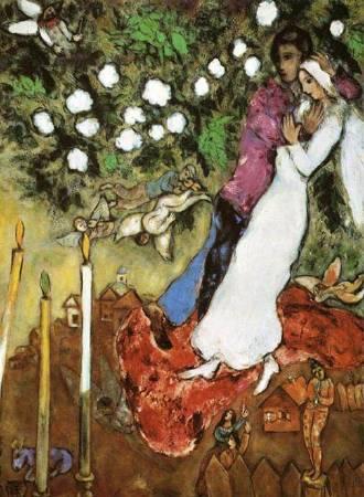 《三支蠟燭》, Marc Chagall。