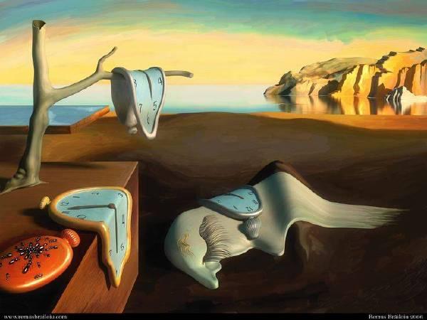 《時光靜止》, Salvador Dali。