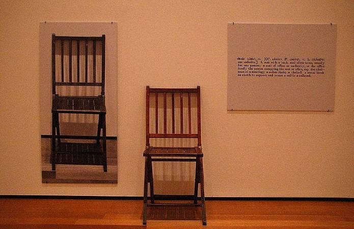 Joseph Kosuth,《One and Three Chair》。