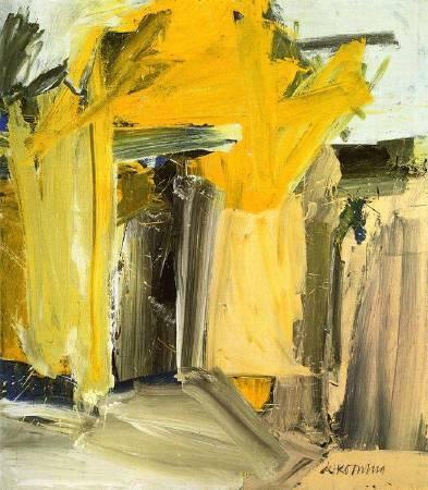 Willem de Kooning ,《Door to the River》,1960。圖/取自Wikiart。