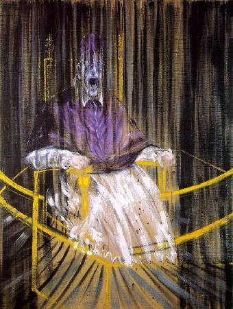 Francis Bacon,《Portrait of Pope Innocent X》,1953。圖/取自Wikimedia。