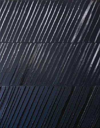 Pierre Soulages,《Peinture》,2011。圖/取自Wikiart。