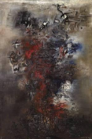 趙無極 ,《向杜甫致敬 》,1956。圖/取自Wikiart。