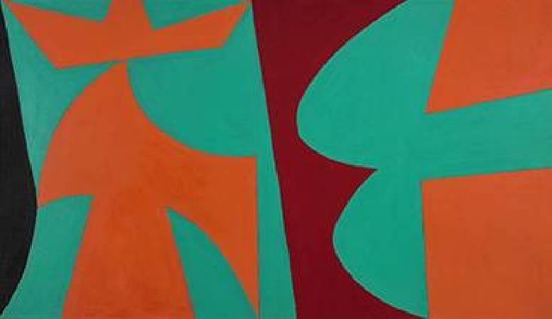 Lorser Feitelson, Untitled 1952, 40 x 70 inches. 圖/取自Wiki