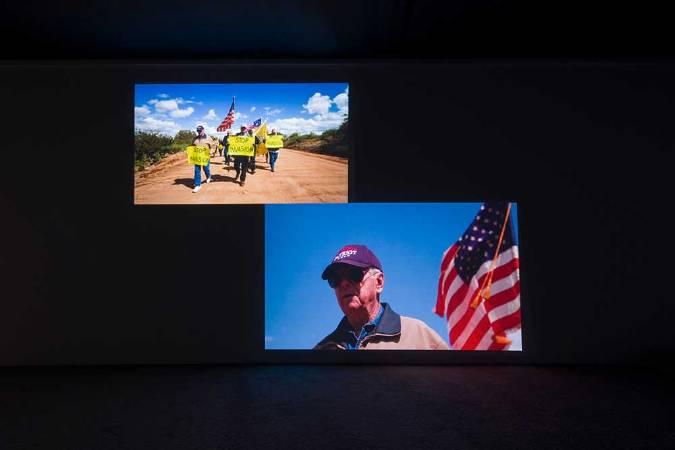 Yoshua OKÓN,《Oracle》,展覽現場,2018年,Ghebaly 畫廊,洛杉磯。圖/藝術家與 Ghebaly 畫廊提供