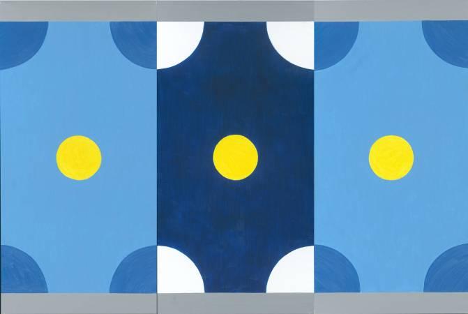 霍剛  乾坤1-2-3- 200x100cm(x3) 油彩、畫布 2013