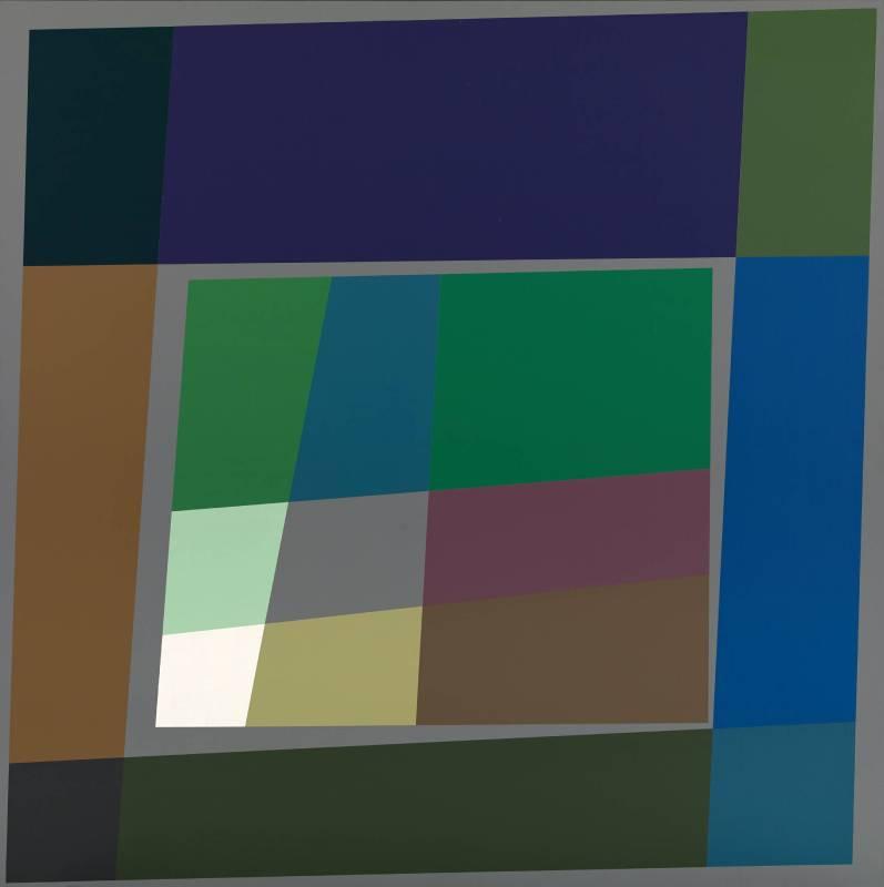 胡坤榮  浮世繪 125X125 cm 壓克力、畫布 2010