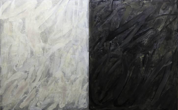 曾仕猷,  2017年, 165x132cm x2pics, 油彩.畫布 / Augustin, Sieur TZEN, MONO Duo, 2017, 165x132cm x2pics, Oil paint canvas