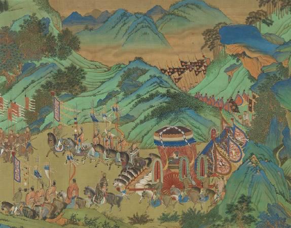 上林圖的第1個版本—傳元人上林羽獵圖
