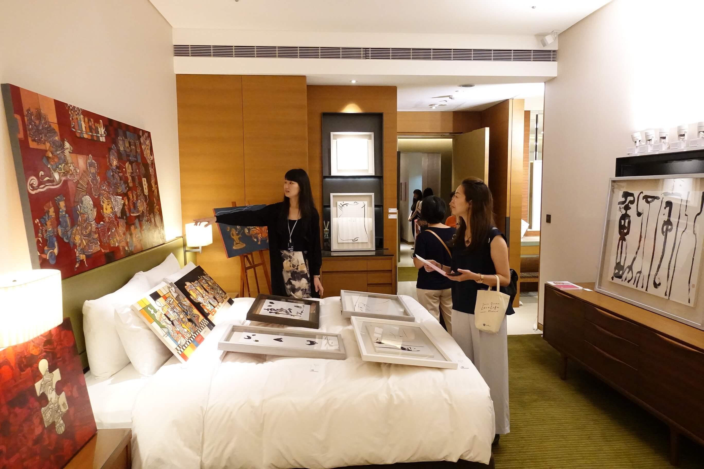 唐灣藝術中心展示空間。