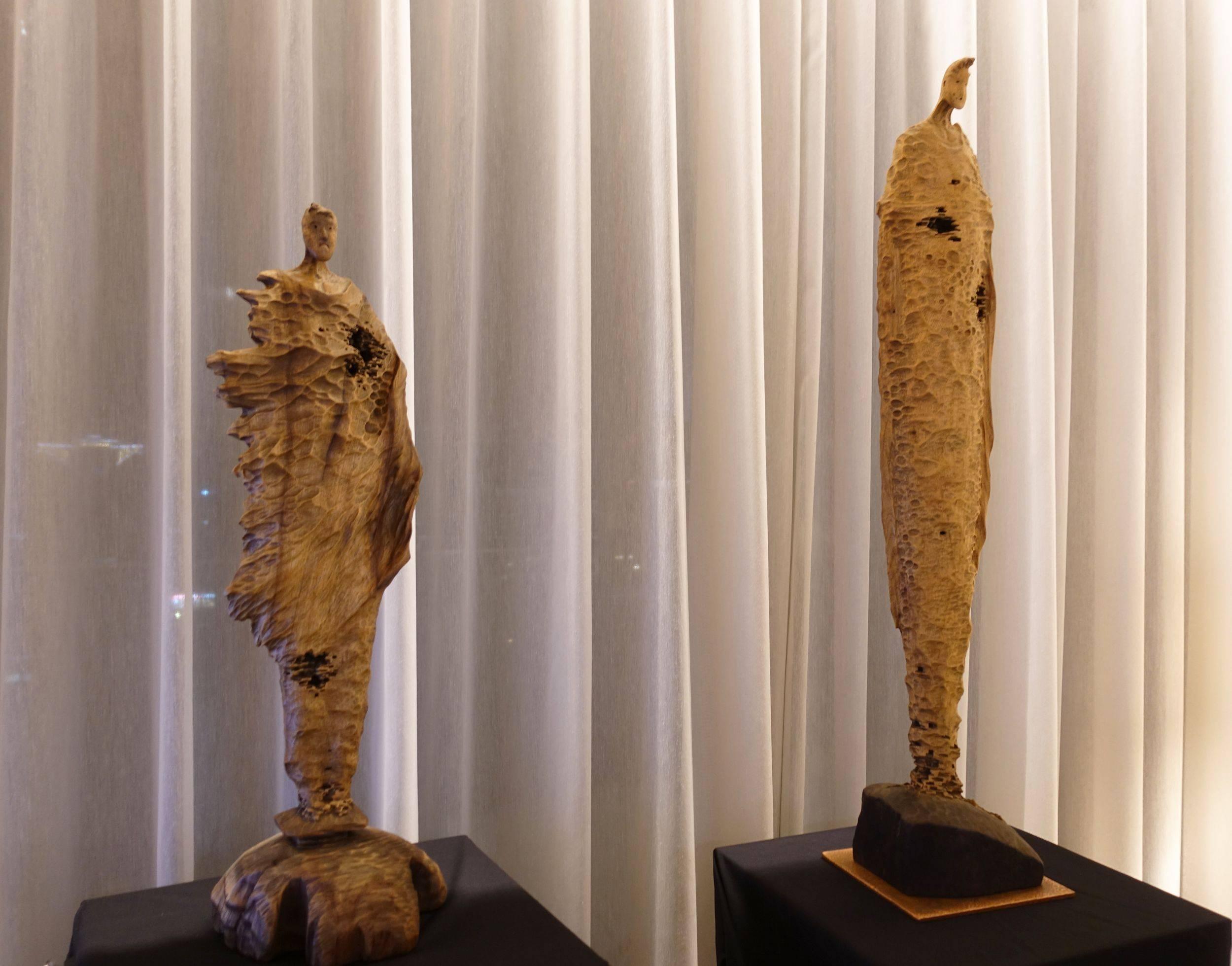 台中美丘美术展間,藝術家黃瑞元作品。