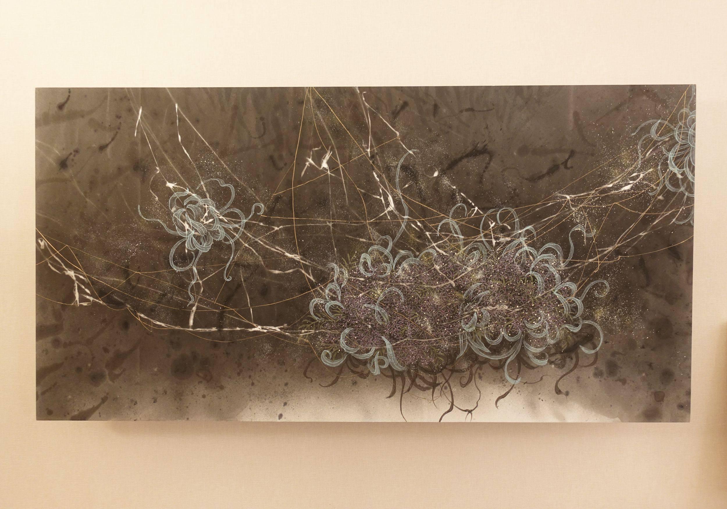 東海大學美術系展間,藝術家林昱均作品。