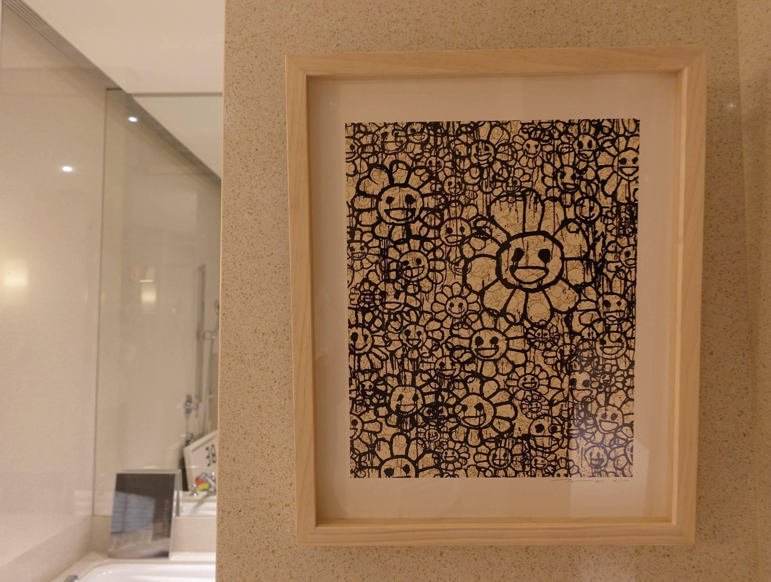 the COLLECTORS展間作品,藝術家村上隆版畫作品。