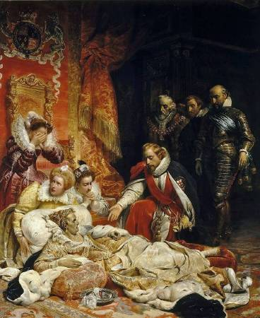 Paul Delaroche,《The Death of Elizabeth I, Queen of England》,1828。圖/取自wikiart。