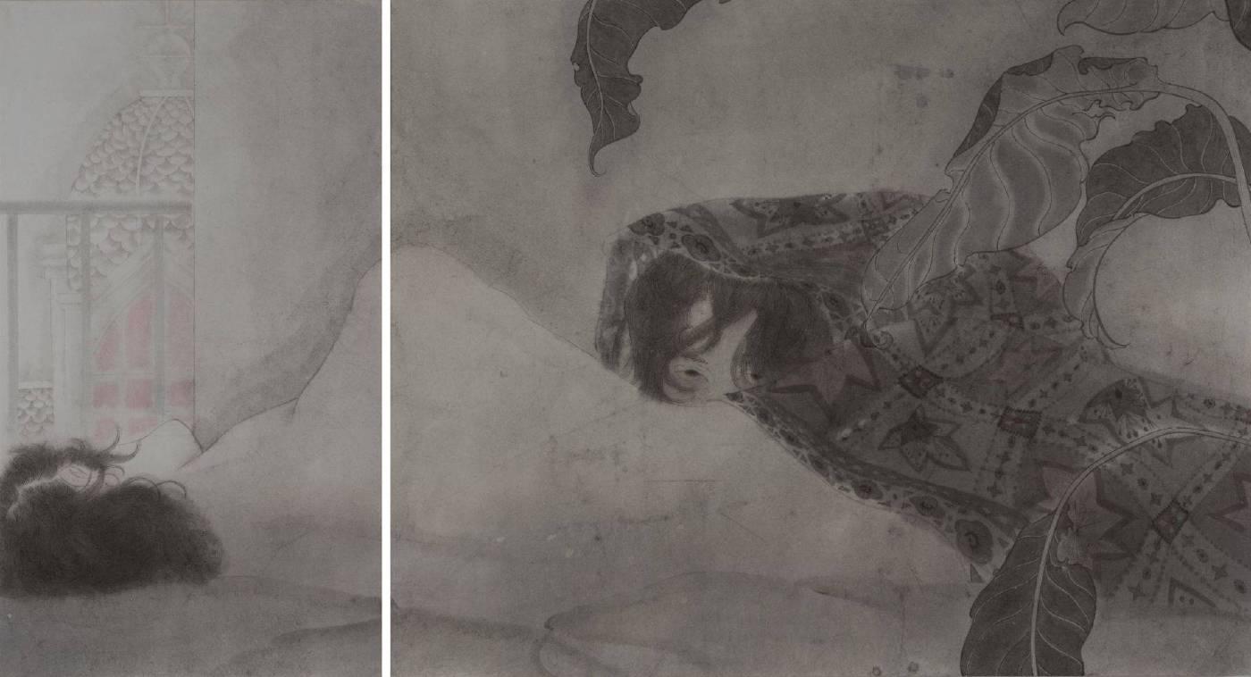 黃向藝,《黑色風景》,2014。
