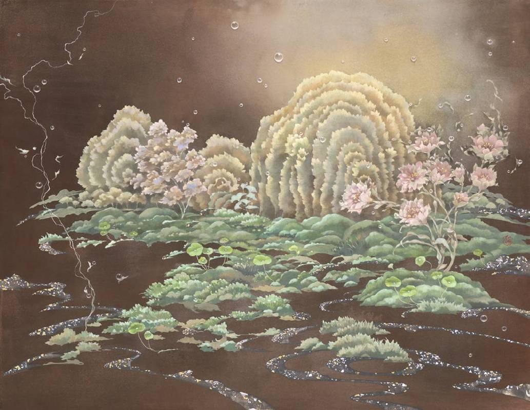 簡詩如 ChienShih Ju / 幽光之所 The Place of Dim Light 水墨膠彩紙本 Ink and gauche on paper 91x116 cm 2018